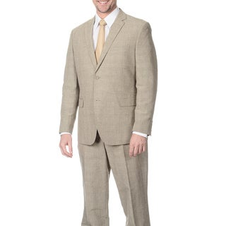 Reflections Men's Tan 2-piece Linen Suit