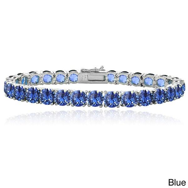 Crystal Ice Round Crystal Tennis Bracelet with Swarovski Elements