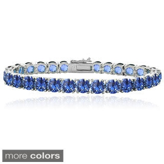 Crystal Ice Round Crystal Tennis Bracelet with Swarovski Elements