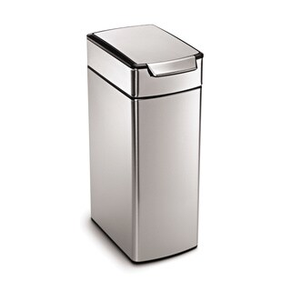 Simplehuman Stainless Steel 40-liter Slim Touch-Bar Trash Can