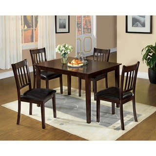 Furniture of America West Transitional Espresso 5-piece Dining Set