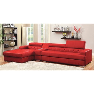Furniture of America Forz Modern Sectional with Bluetooth Speaker