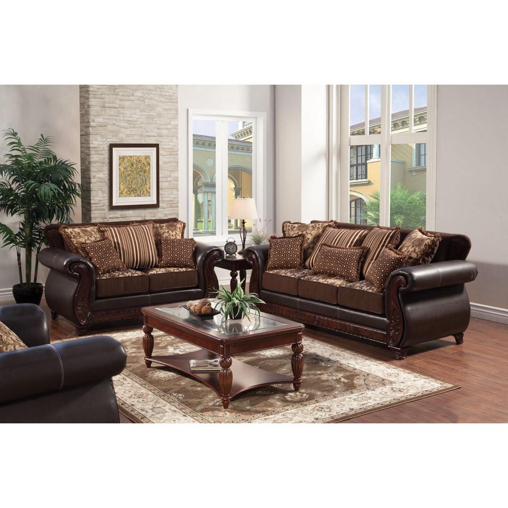 Furniture of America Traditional Franchesca 2-piece Fabri...
