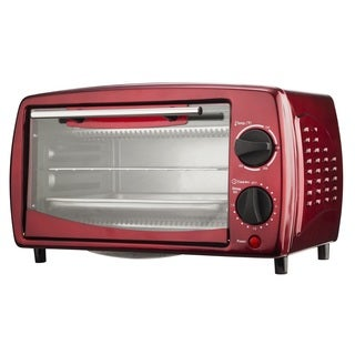 Brentwood TS-345R Red 4-slice Toaster Oven