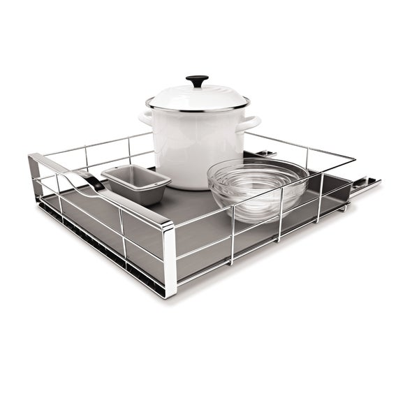 Cabinet Slide Out Shelf Best Pull Shelves Ideas Tip Lowe S: Shop Simplehuman Pull-Out Cabinet Organizer