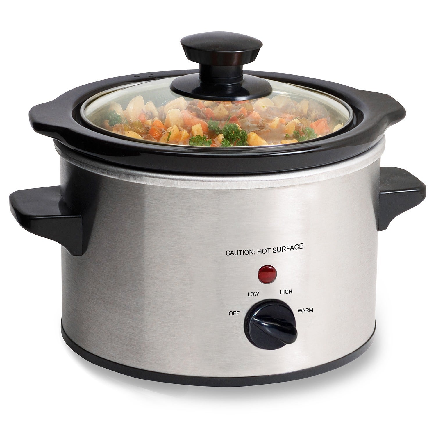 OEM Stainless Steel 1.5-quart Mini Slow Cooker with Remov...