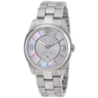 Movado Women's Lx Stainless Steel Mother of Pearl Watch