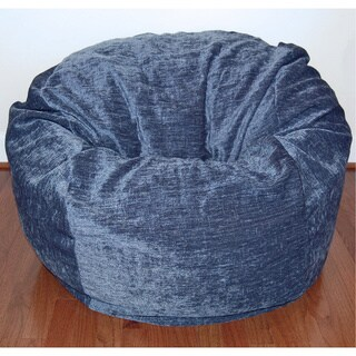 Navy Chenille 36-inch Wide Washable Bean Bag Chair