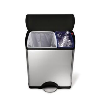 simplehuman 46 Liter Rectangular Recycler