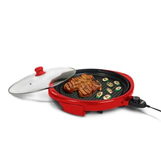 14-inch Red Round Health Grill