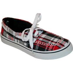Women's Dawgs Kaymann Boat Shoe Red Plaid