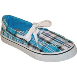 Women's Dawgs Kaymann Boat Shoe Turquoise Plaid