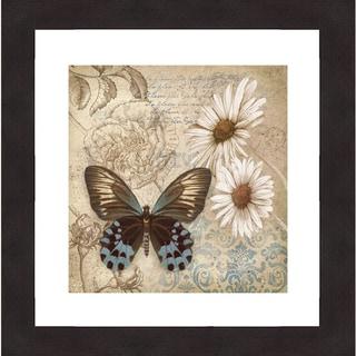 Conrad Kutsen 'Butterfly Garden I' Framed Print