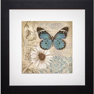 Conrad Kutsen 'Butterfly Garden II' Framed Print