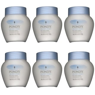 Pond's Dry Skin Cream The Caring Classic 6.5-ounce Rich Hydrating Skin Cream (Pack of 6)