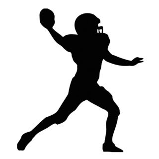 American Football Player Silhouette Black Vinyl Art Wall Decal