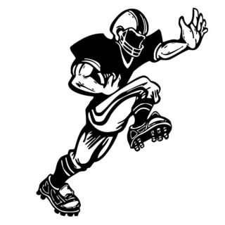 Shop American Football Cartoon Vinyl Art Wall Decal Free Shipping On Orders Over 45