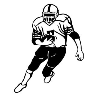 American Football Player Running Vinyl Art Wall Decal