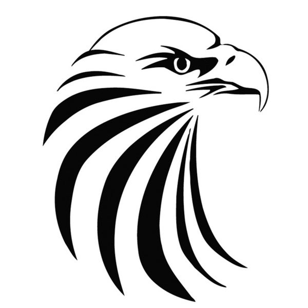 shop eagle bust vinyl wall art decal free shipping on orders over Enterprise Bird of Prey eagle bust vinyl wall art decal