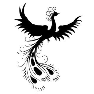 Peacock Bird Vinyl Wall Art Decal