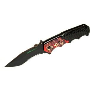 Defender 8-inch Black Zombie Killer Pocket Knife