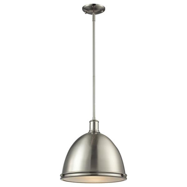 Avery Home Lighting Mason 1 Light Brushed Nickel Pendant