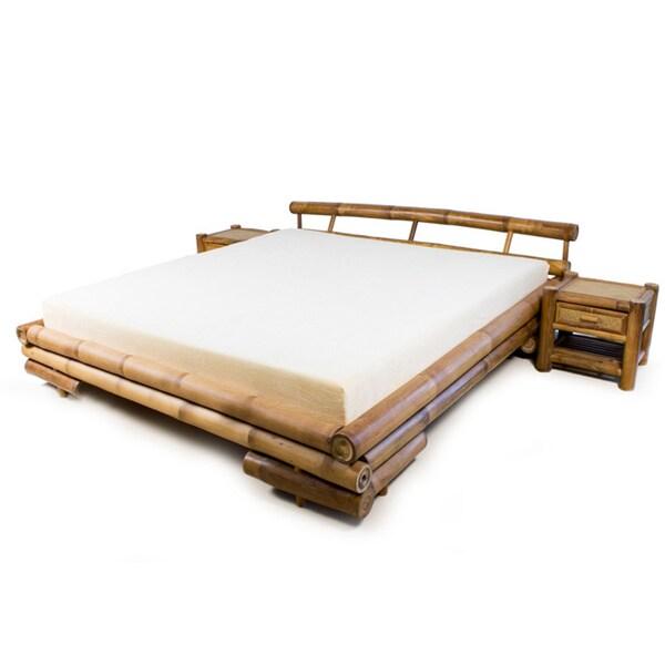 Shop Tong Bamboo Platform King Size Bed Free Shipping