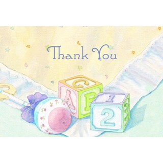 Baby Blocks Thank You Note Cards