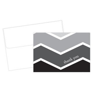Ombre Chevron Graduation Thank You Note Card Kit