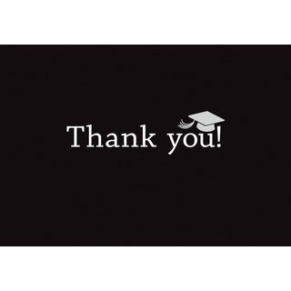 Classic Graduation Thank You Note Card Set