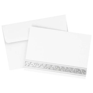 Silver Foil Filigree Note Card Set