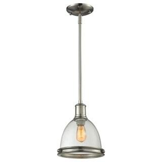Z-Lite Mason 1-light Seeded Glass Bell Shade Mini Pendant