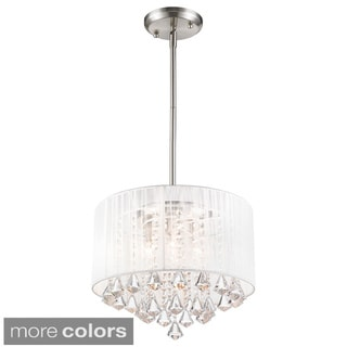 Z-Lite Aura 4-light String Shade Crystal Drop Pendant