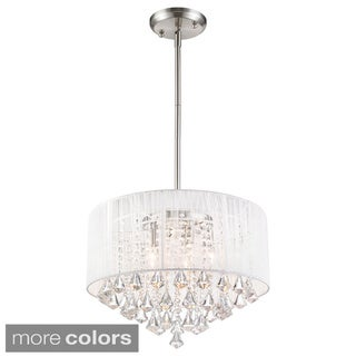 Z-Lite Aura 5-light String Shade Crystal Drop Pendant