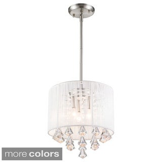Z-Lite Aura 3-light String Shade Crystal Drop Pendant