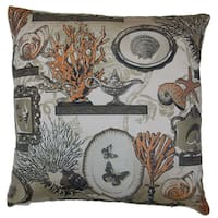 Coral Shelf Decorative Down Filled Throw Pillow