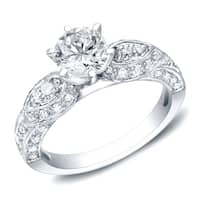 Auriya Vintage Inspired 1 1/2ct TDW Round Diamond Engagement Ring 14k Gold