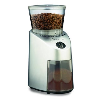 Capresso 560.04 Brushed Silver Infinity Conical Burr Grinder