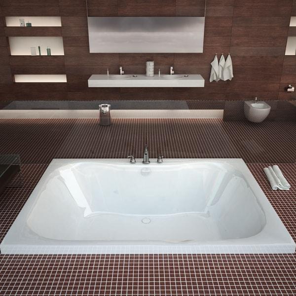 Mountain Home Cliff 40x60 Inch Acrylic Soaking Drop In Bathtub   40 X 60
