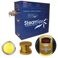 SteamSpa Indulgence 6kw Steam Generator Package in Polished Brass