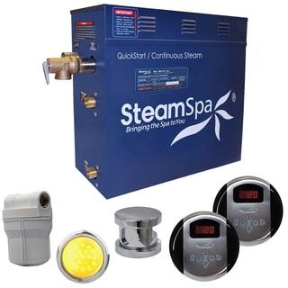 SteamSpa Royal 6kw Steam Generator Package in Brushed Nickel