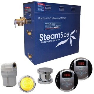 SteamSpa Royal 6kw Steam Generator Package in Brushed Nickel