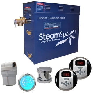 SteamSpa Royal 7.5kw Steam Generator Package in Chrome