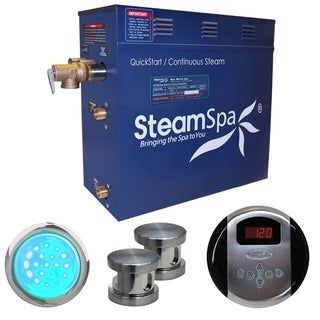 SteamSpa Indulgence 12kw Steam Generator Package in Brushed Nickel