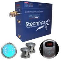 SteamSpa Indulgence 12kw Steam Generator Package in Brushed Nickel