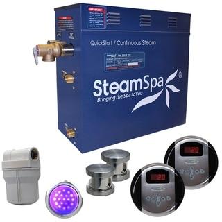 SteamSpa Royal 12kw Steam Generator Package in Brushed Nickel