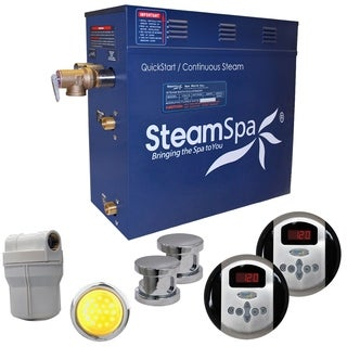 SteamSpa Royal 12kw Steam Generator Package in Chrome