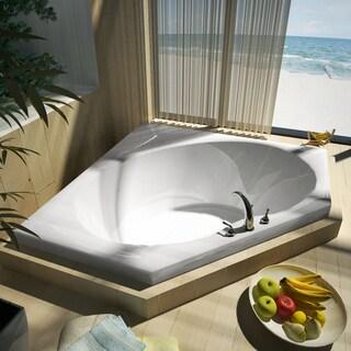 Mountain Home Crest 60x60-inch Acrylic Soaking Drop-in Bathtub