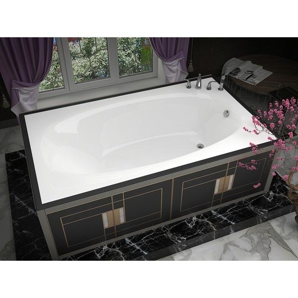 Shop Mountain Home Ouray 42x66-inch Acrylic Soaking Drop-in Bathtub ...
