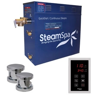 SteamSpa Oasis 10.5kw Touch Pad Steam Generator Package in Chrome